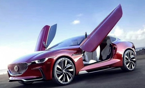 MG E Motion supercar top 600x365 at MG E Motion Electric Supercar Set for Auto Shanghai Debut