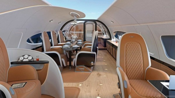 Pagani jet cabin 2 600x338 at Pagani Design Private Jet Cabin