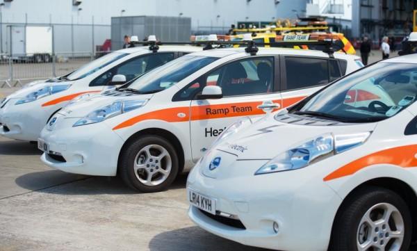 Airport Kia London >> Nissan LEAF EV Added to Heathrow Fleet