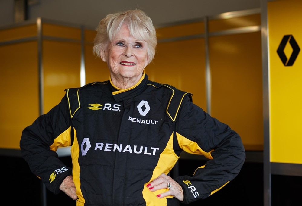 Renault Sport Rosemary Smith F1 1 at Rosemary Smith, 79, Test Drives Renault Formula One Car!