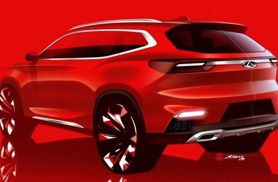 Chery IAA2017 1 550x360 at Chery Reveals Sketch of New Global Crossover
