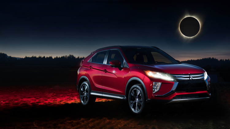 MMNA EclipseCross Red Ext at 2018 Mitsubishi Eclipse Cross and the Solar Eclipse