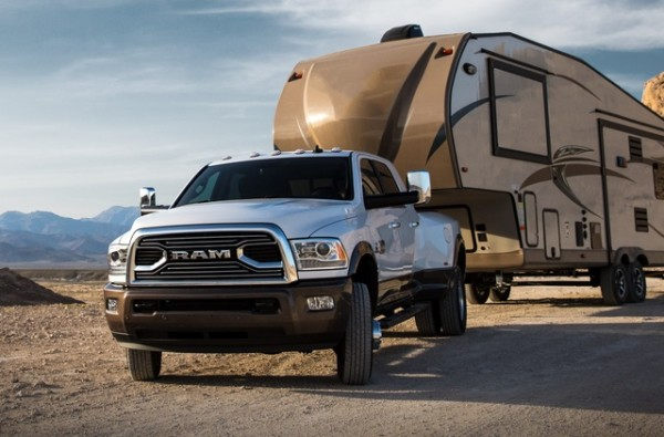 Ram 3500 Longhorn with 5th wheel travel trailer 600x395 at 2018 Ram 3500 Heavy Duty with 930 lb. ft. of Torque!
