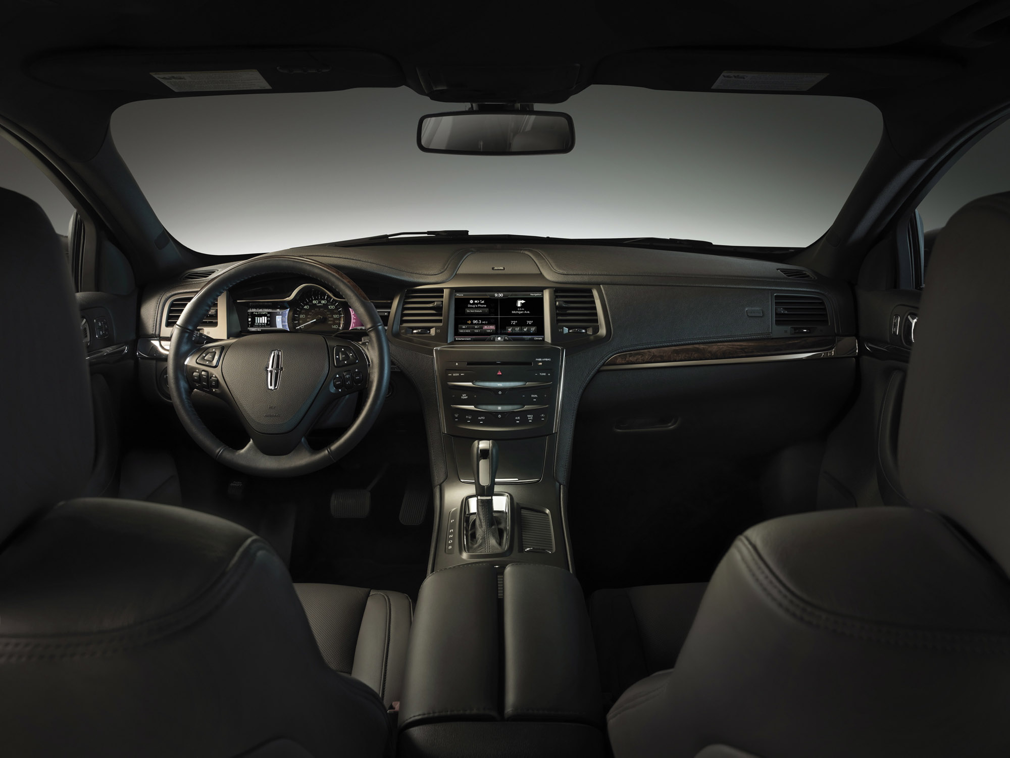 2013 Lincoln MKS Interior 4 at Lincoln History and Photo Gallery