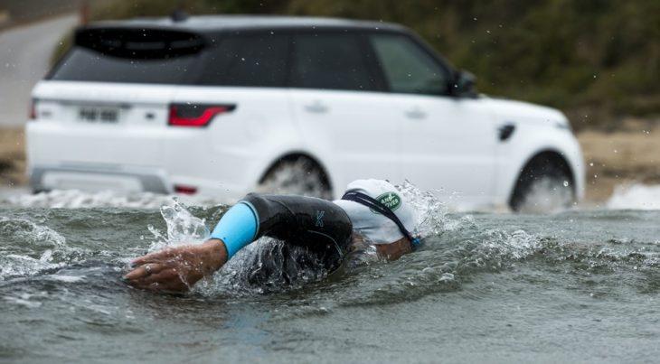 2018 Range Rover Sport water challenge 1 730x403 at 2018 Range Rover Sport Takes on Swimmers in Water Challenge!