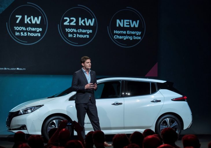 426206423 Nissan unveils electric ecosystem at Nissan Futures 3 0 730x513 at 2018 Nissan LEAF Makes European Debut at Futures 3.0 Conference