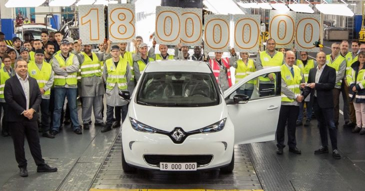 Renault Flint ZOE 18Mth 730x382 at Renault Flins Plant Celebrates Production of 18 Millionth Car