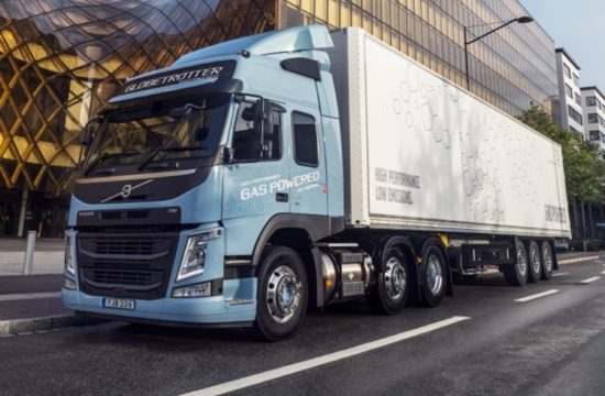 gas powered volvo trucks 1 550x360 at Gas Powered Volvo Trucks Promise Significantly Less CO2 Emissions