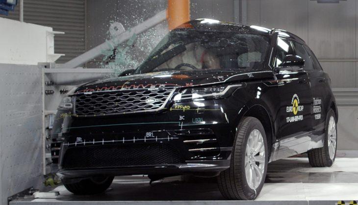 velar crash test 730x419 at Range Rover Velar Earns 5 Star Safety Rating from EuroNCAP