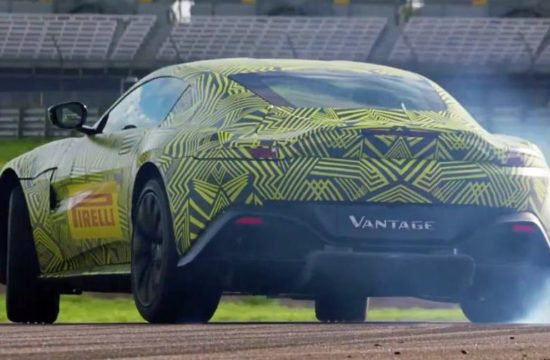 2018 Aston Martin Vantage Mule 1 550x360 at 2018 Aston Martin Vantage   What We Know So Far