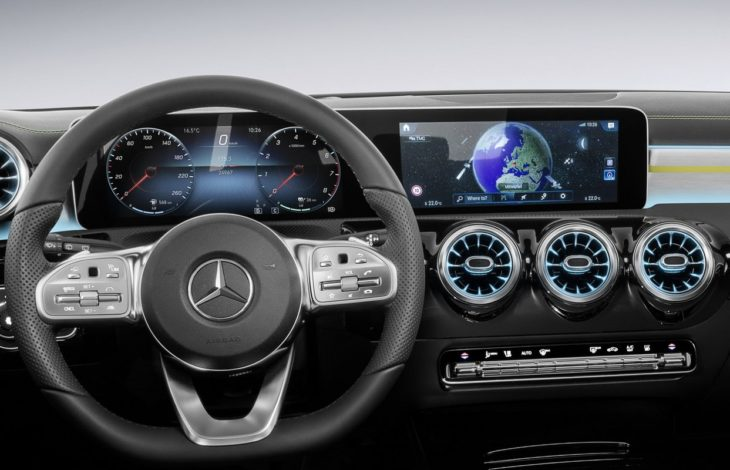 2018 Mercedes A Class Interior 11 730x470 at 2018 Mercedes A Class Interior Officially Revealed