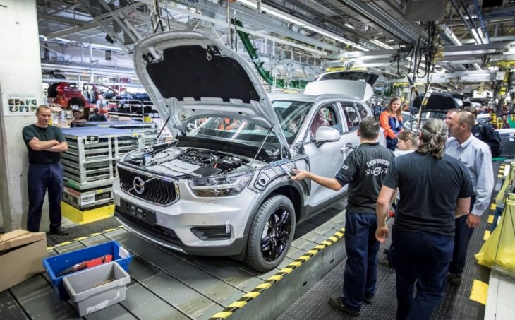 2018 Volvo XC40 Production 1 730x453 at 2018 Volvo XC40 Production Begins in Ghent