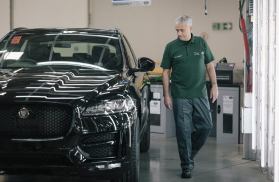 José Mourinho Jaguar F Pace 1 550x360 at José Mourinho Becomes 100,000th Jaguar F Pace Buyer, Helps with the Build