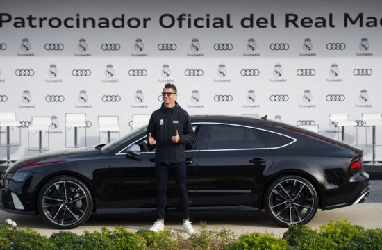 Real Madrid Audi 5 550x360 at Audi Delivers Brand New Cars to Real Madrid Players