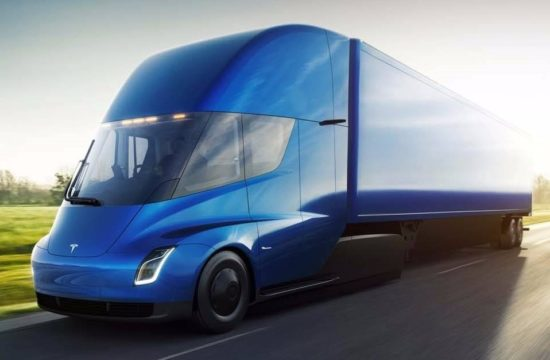 Tesla Semi 2 550x360 at Tesla Semi Truck Unveiled with 5 Second 0 to 60 Time!