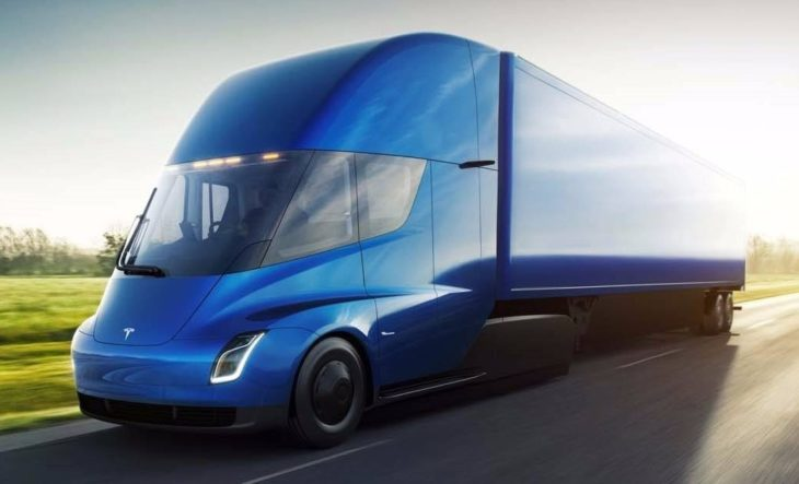 Tesla Semi 2 730x443 at Tesla Semi Truck Unveiled with 5 Second 0 to 60 Time!
