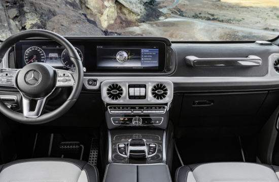 2019 Mercedes G Class Interior 1 550x360 at 2019 Mercedes G Class Interior Revealed in Official Photos