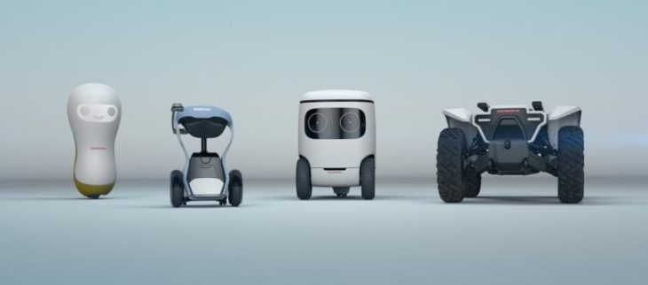honda robots 730x322 at Japanese Car Makers and Their Love of Robots