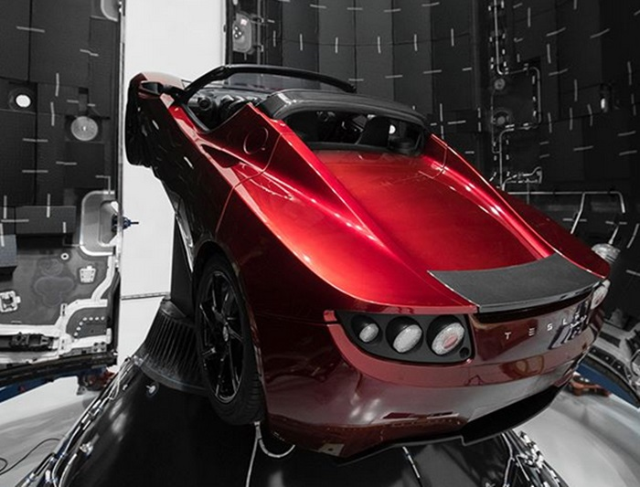 tesla roadster mars 1 at Elon Musk Is Sending His Tesla Roadster to Mars