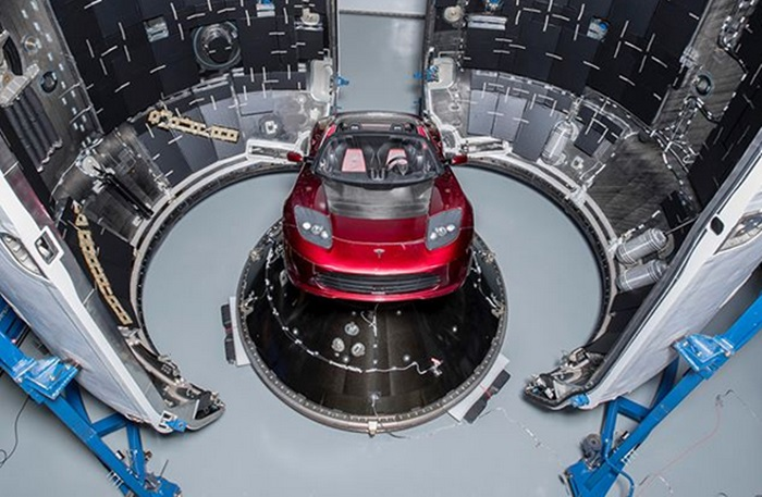 tesla roadster mars 4 at Elon Musk Is Sending His Tesla Roadster to Mars