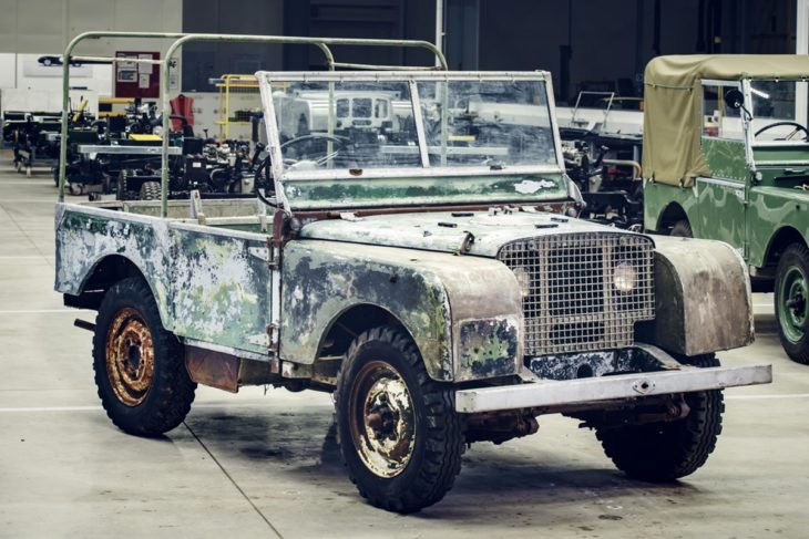 1948 Land Rover 730x487 at 1948 Land Rover Launch Model Headed for Restoration