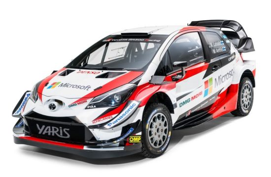 2018 Toyota Yaris WRC 1 550x360 at 2018 Toyota Yaris WRC Rally Car Unveiled