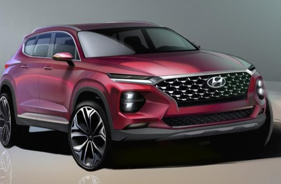 2019 Hyundai Santa Fe render1 550x360 at 2019 Hyundai Santa Fe Previewed in Official Renderings