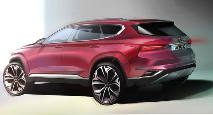 2019 Hyundai Santa Fe render2 730x395 at 2019 Hyundai Santa Fe Previewed in Official Renderings
