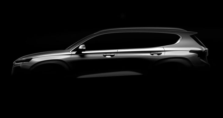 2019 hyundai santa fe 730x385 at New Hyundai Santa Fe (2019) Confirmed for Geneva Debut