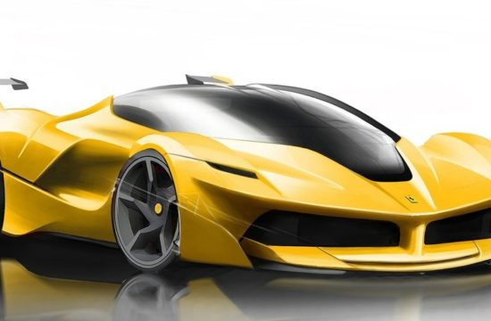 Ferrari FXX K sketch 1 550x360 at All Electric Ferrari Supercar All But Confirmed