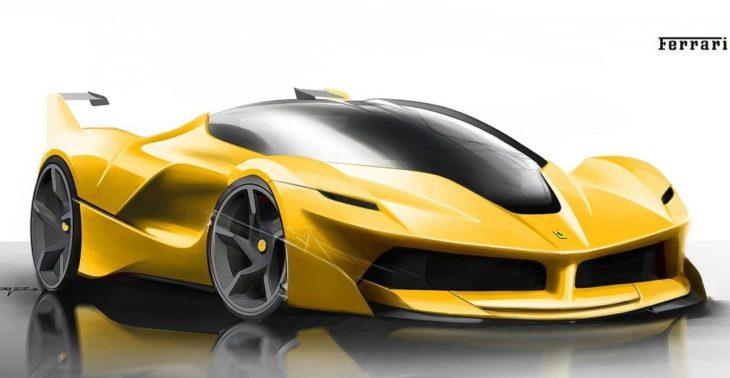 Ferrari FXX K sketch 1 730x378 at All Electric Ferrari Supercar All But Confirmed