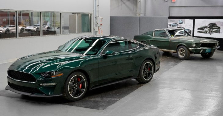 New 2019 Mustang Bullitt with original Bullitt movie Mustang 730x382 at 2019 Ford Mustang Bullitt Fetches $300,000 at Charity Auction
