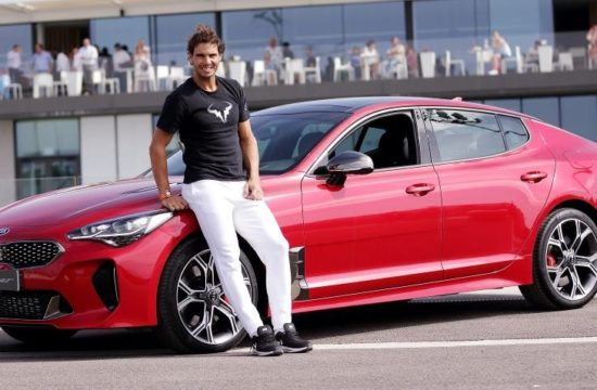 Rafa Nadal Stinger 2 550x360 at Tennis Star Raphael Nadal Gets a Kick Out of Kia Stinger