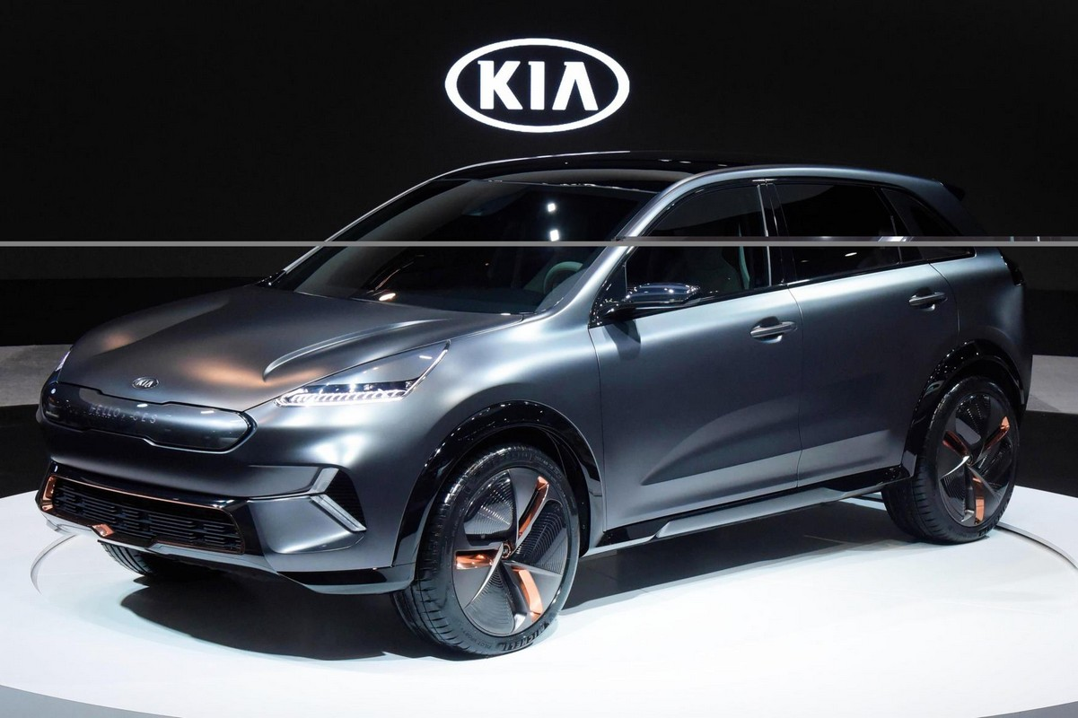 kia niro ev concept unveiled at ces 2018. Black Bedroom Furniture Sets. Home Design Ideas