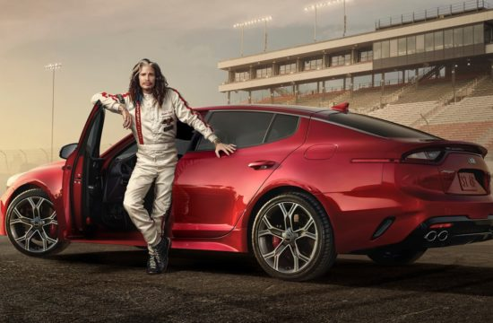13502 Steven Tyler hits the racetrack in Kia s Super Bowl ad for the all new1 550x360 at Steven Tyler Stars in Kias Super Bowl LII Commercials