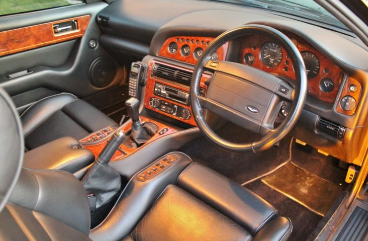1997 Aston Martin V8 Vantage V550 Manual interior 1 730x479 at Elton Johns 1997 Aston Martin Vantage Could Be Yours