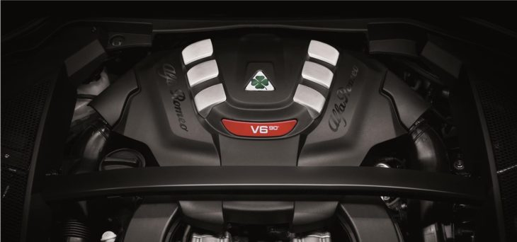 2018 Alfa Romeo Stelvio Quadrifoglio engine 730x342 at 2018 Alfa Romeo Stelvio Quadrifoglio Priced at $80K