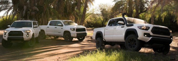 2019 Toyota TRD Pro Series 0 730x251 at 2019 Toyota TRD Pro Series: Tacoma, 4Runner, Tundra