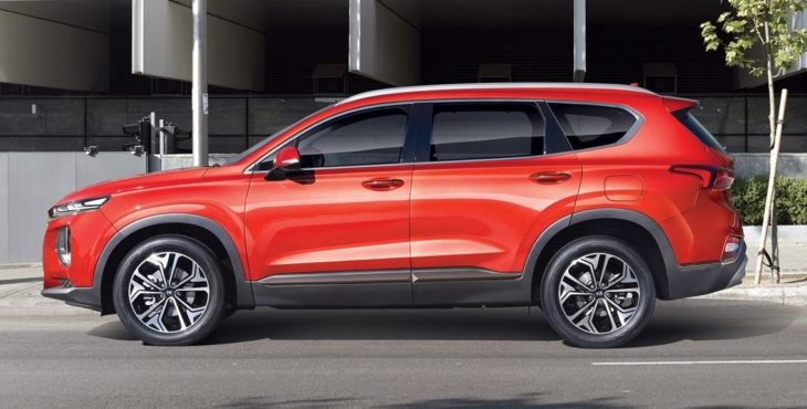 2019 santa fe 1 730x370 at 2019 Hyundai Santa Fe Specs and Details (KDM)