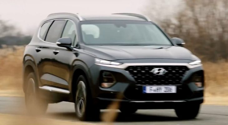 2019 santa fe capture 1 730x401 at 2019 Hyundai Santa Fe Revealed in First Commercial