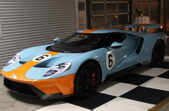 Gulf Liveried 2018 Ford GT 1 550x360 at Gulf Liveried 2018 Ford GT Delivered to Danish Racing Driver