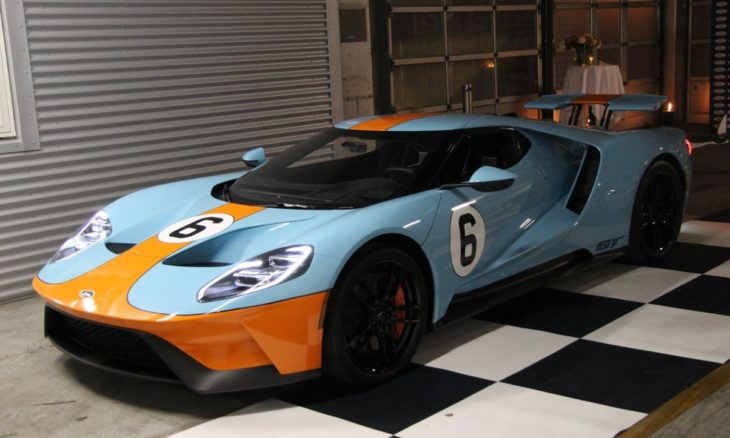 Gulf Liveried 2018 Ford GT 1 730x438 at Gulf Liveried 2018 Ford GT Delivered to Danish Racing Driver
