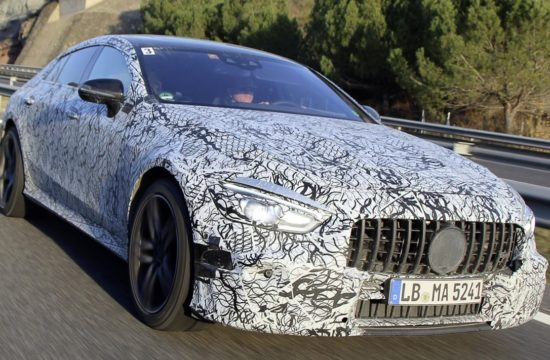 Mercedes AMG GT Coupe mule 1 550x360 at Production Mercedes AMG GT Coupe Set for Geneva Debut