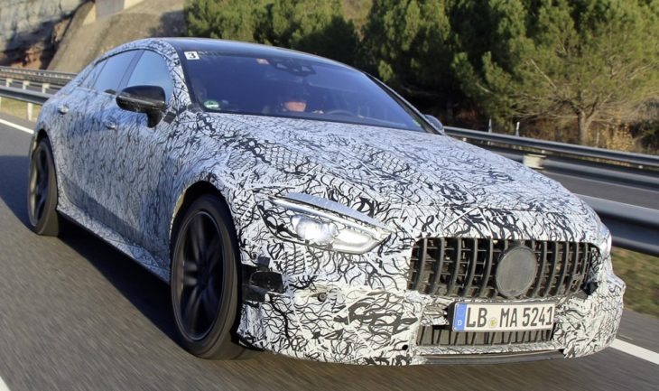 Mercedes AMG GT Coupe mule 1 730x433 at Production Mercedes AMG GT Coupe Set for Geneva Debut