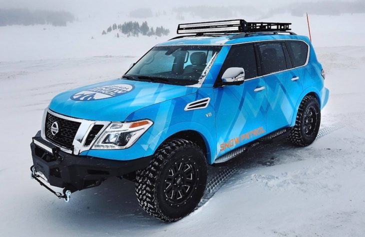 Nissan Armada Snow Patrol 0 730x474 at Nissan Armada Snow Patrol Is the Perfect Match for 370Zki