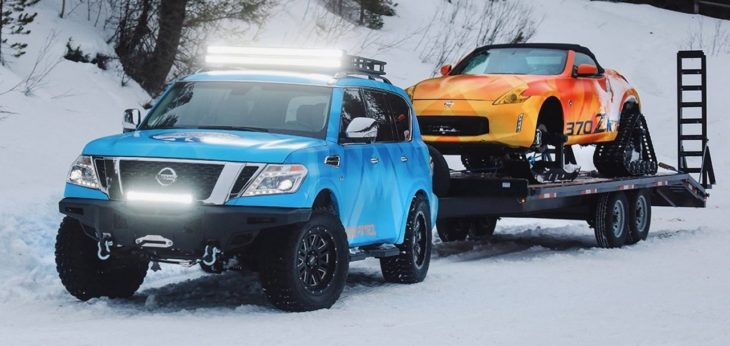 Nissan Armada Snow Patrol 00 730x346 at Nissan Armada Snow Patrol Is the Perfect Match for 370Zki
