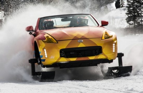Nissan 370Zki Chicago Auto Show 2018   Photo 01 550x360 at Nissan 370Zki   Car and Snowmobile Merged Into One