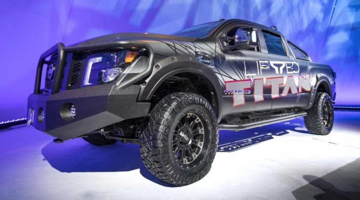TITAN Lift Kit Photo 9 730x406 at 2018 Nissan Titan Gets Factory Suspension Lift Kit