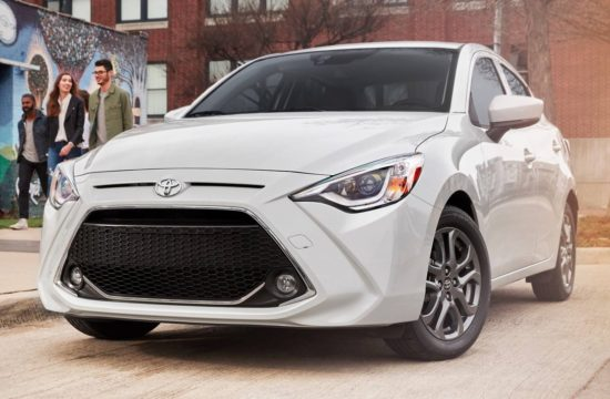 2019 Toyota Yaris Sedan 1 550x360 at 2019 Toyota Yaris Sedan Unveiled with 40 mpg Rating