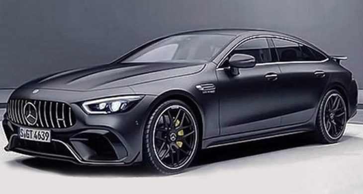 Four door Mercedes AMG GT Coupe leaked 1 730x391 at Four Door Mercedes AMG GT Coupe Leaked Ahead of Geneva Debut